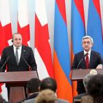 Armenia-Georgia: Sargsyan says different geopolitical courses no impediment to neighbors' cooperation