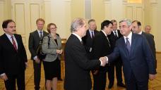 President Sargsyan hosts EU ambassadors to Armenia