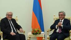 Armenian president, visiting German FM discuss cooperation