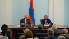 Armenian president against arming civilians in border regions
