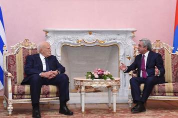 Armenian, Greek presidents discuss wide range of issues