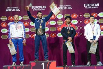 Wrestling: Armenian athletes win gold, silver, bronze medals at European championships