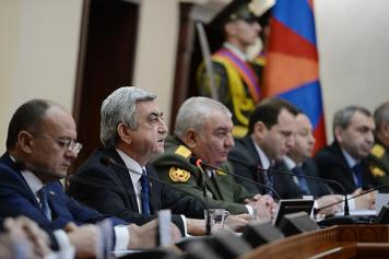 Sargsyan says Armenia ready to negotiate peace, but prepared for any development