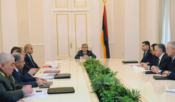 President Serzh Sargsyan called a meeting of the National Security Council