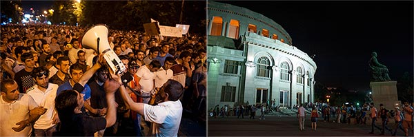 Baghramyan v Opera?: Protesters in different venues urged to remain committed to single goal
