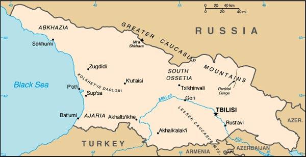 Georgian Blockade Armenia To Seek Alternative Route For Russian - Gyumri map