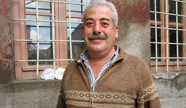 Istanbul-Armenian Karapet Istafanyan has been guarding and taking care of the church for eight years.