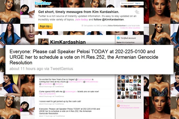 Star Tweet Power: Kim Kardashian makes 5.5 million appeals for HR252