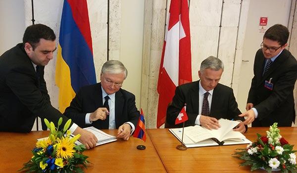 Հայաստանն ու Շվեյցարիան ստորագրել են վիզային ռեժիմի դյուրացման համաձայնագիր