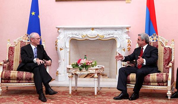 Van Rompuy: EU is shared values, a partner of Armenia