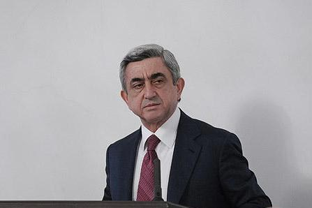 "Sargsyan: Armenia was not against presence of peacekeepers in Karabakh, but wants ""final settlement"""