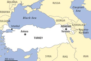 Middle East Armenia Map