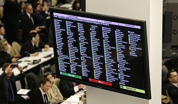 Իզգոյացման քվեարկություն. Հայաստանը սատարում է իր դաշնակից Ռուսաստանին Ուկրաինայի վերաբերյալ ՄԱԿ-ի բանաձևի հարցում
