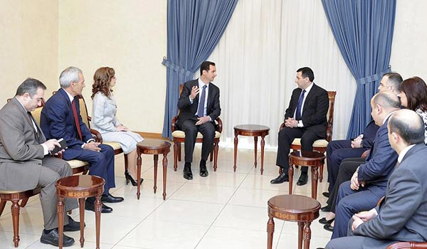 Syrian presidents receives Armenian lawmakers, Kesab situation discussed