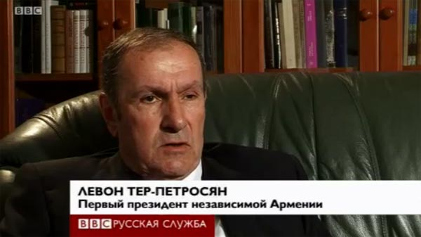 Ter-Petrosyan on the BBC: Karabakh conflict could have been resolved by giving certain territories to Azerbaijan