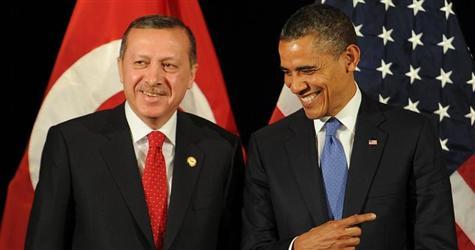 Turkish Prime Minister Recep Erdogan (left) and U.S. President Barack Obama