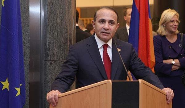 Speaker's Mission: Armenia reassures Brussels over its 'European policy'