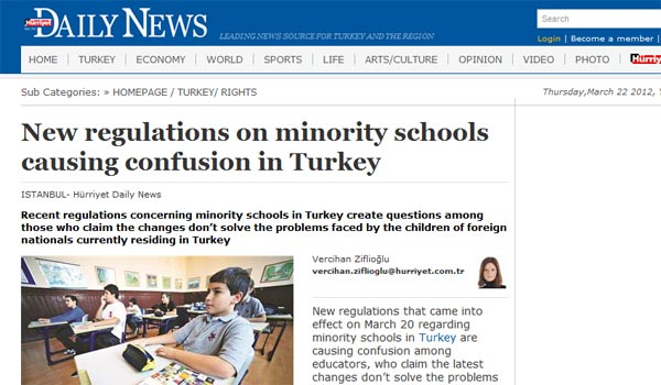 Unresolved: New law on minority schools might work for Greek but not Armenian children