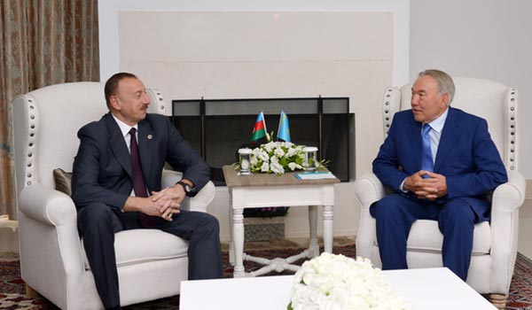 "Aliyev thanks Nazarbayev for ""support"" at Eurasian summit"