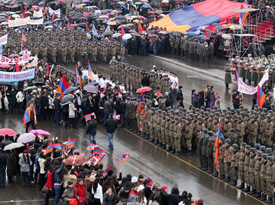 Karabakh Armenians mark 25th anniversary of liberation movement