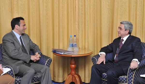 Սարգսյանը Կիևում ԱՄՆ բարձրաստիճան պաշտոնյանի հետ քննարկում է հայ-թուրքական հարաբերությունները
