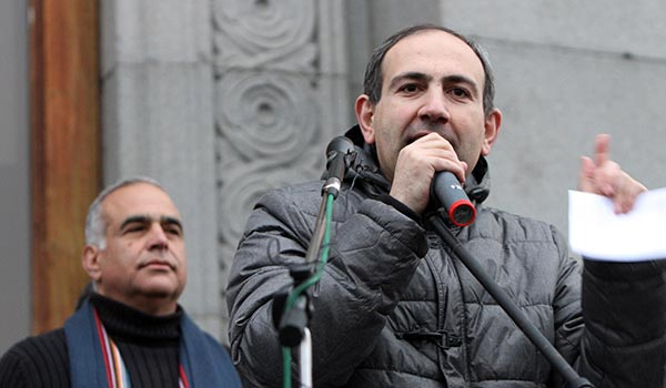 "Pashinyan calls for ""new government"" to be appointed by ""president-elect"" Hovannisian"