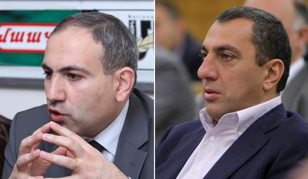 Vote 2012: Pashinyan turns down Alexanyan invitation to banquet, reminds of his invitation to TV debate