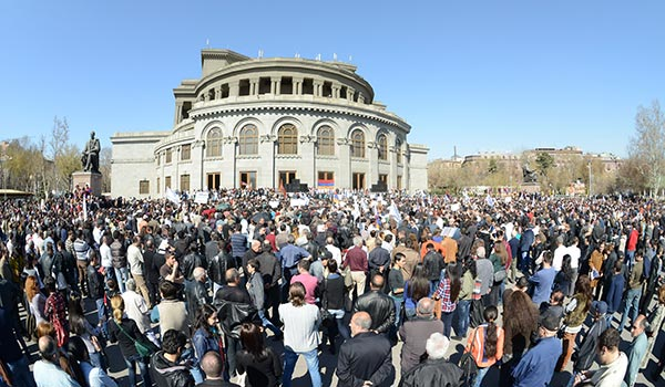 Pension Protest: Thousands in Yerevan stage demo against unpopular reform