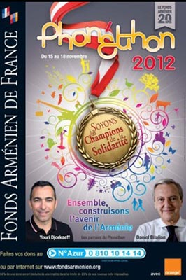 Phone-a-thon for Armenian charity held in Europe ahead of 24-hour Thanksgiving Day Telethon