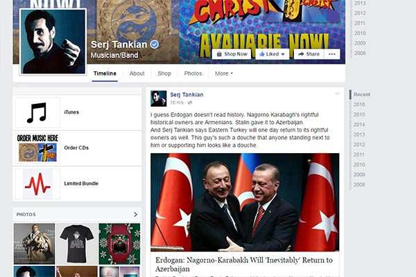 Twitting and FBing for Karabakh: Famous Armenians worldwide share posts against Azeri aggression