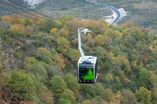 "Wings of Tatev: Armenia debuts ""world's longest aerial tramway"""