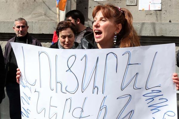 "Armenian opposition lawmaker protests ""illegal imprisonment"" of her brother"